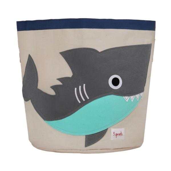 3 sprouts Spielzeugkorb Hai