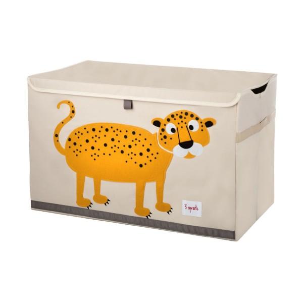 3 sprouts Spielzeugkiste Leopard