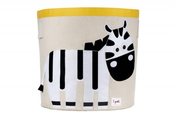 3 sprouts Spielzeugkorb Zebra