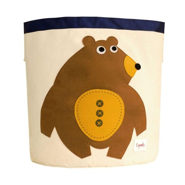 3 sprouts Spielzeugkorb Bär